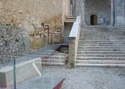 rampa accesso disabili a basso impatto estetico per edificio di valore storico e culturale