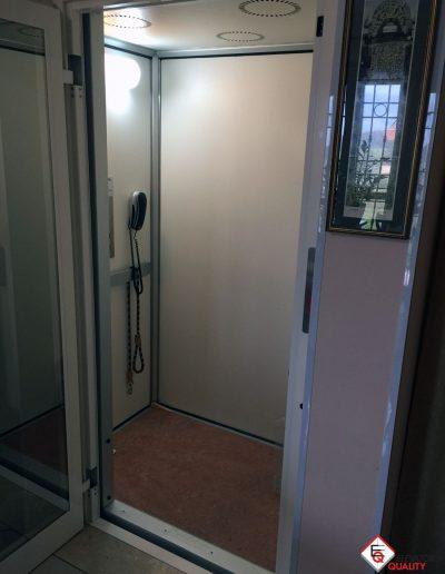 installazione piattaforma elevatrice appartamento interno cabina
