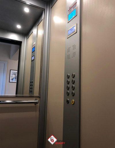 modernizzazione e sostiruzione pulsantiera ascensore in cabina