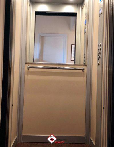 trasformazione ascensore da porte a battente a porte automatiche