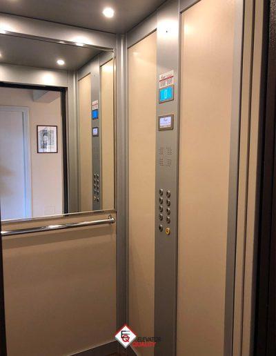 trasformazione interno ascensore e porte