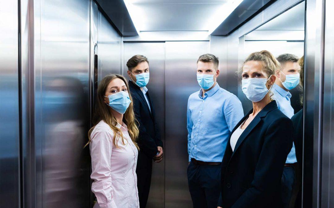 Dispositivo disinfettante purificatore aria ascensore