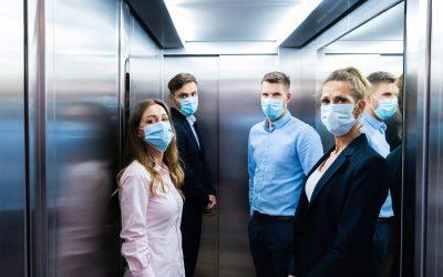 Purificatore aria ascensori: dispositivo disinfettante