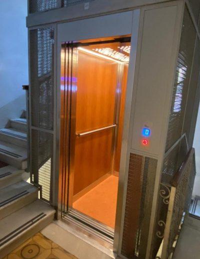 sostituzione ascensore a fune ultimata