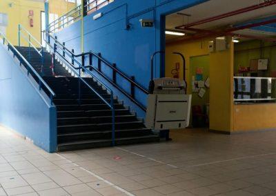 Montascale per disabili scuola Guidonia