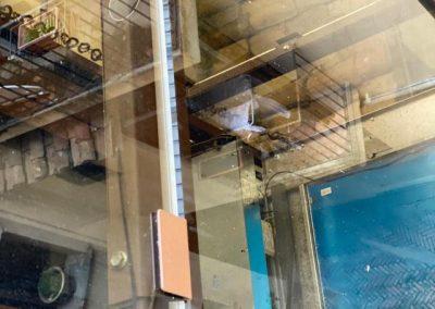 Piattaforma elevatrice in vetro
