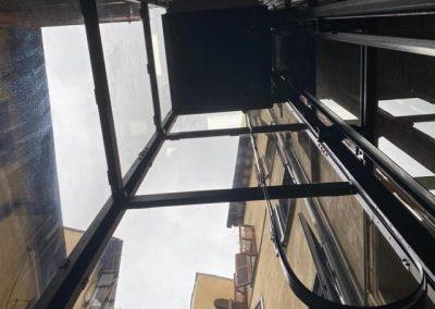 Piattaforma elevatrice struttura acciaio a scomparsa