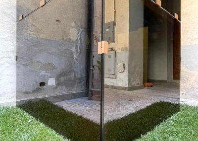 Piattaforma elevatrice vetro metallo