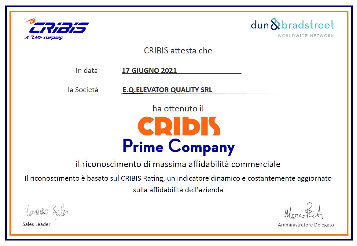 Cribis certification IT