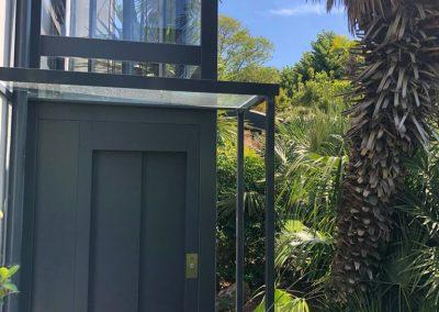 Piattaforma elevatrice esterna in abitazione privata