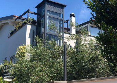 Piattaforma elevatrice esterna per terrazzo abitazione privata